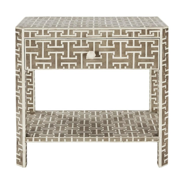 2010s Hermes Inlaid Bone Side Table For Sale - Image 5 of 6