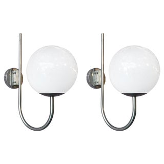 Pair of Globe Sconces by Sergio Mazza Final Clearance Sale For Sale