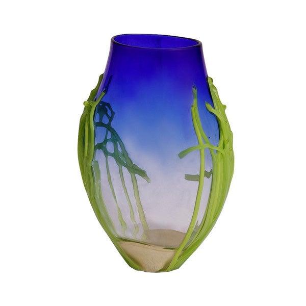 Handblown Medium Cobalt Blue Glass Vase - Image 1 of 6