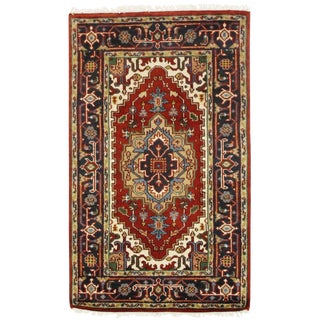 """Pasargad N Y Serapi Design Hand-Knotted Rug - 3'1"""" X 5'1"""" For Sale"""