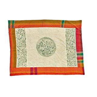 Hand-Stitched Tribal Kantha Throw Blanket