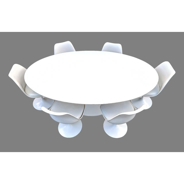 Eero Saarinen Vintage Eero Saarinen for Knoll Tulip Dining Set - 7 Pieces For Sale - Image 4 of 13