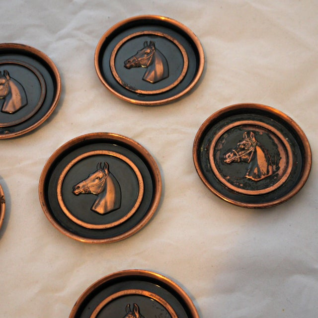Bronze Equestrian Horse Coasters - Set of 6 - Image 3 of 6