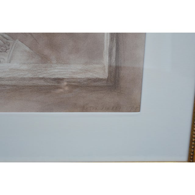 Set of Two Pencil and Charcoal Portraits For Sale In Los Angeles - Image 6 of 11