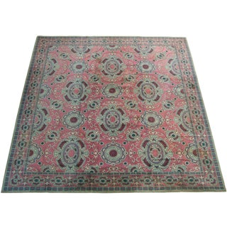 Early 19th Century Antique French Chennile Rug - 15′ × 16′4″ For Sale