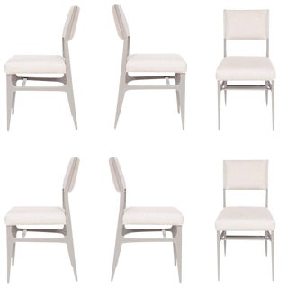 Set of Six Customizable Maze Lacquered Dining Chair For Sale