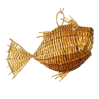 Vintage Fish Shaped Hanging Fruit Basket