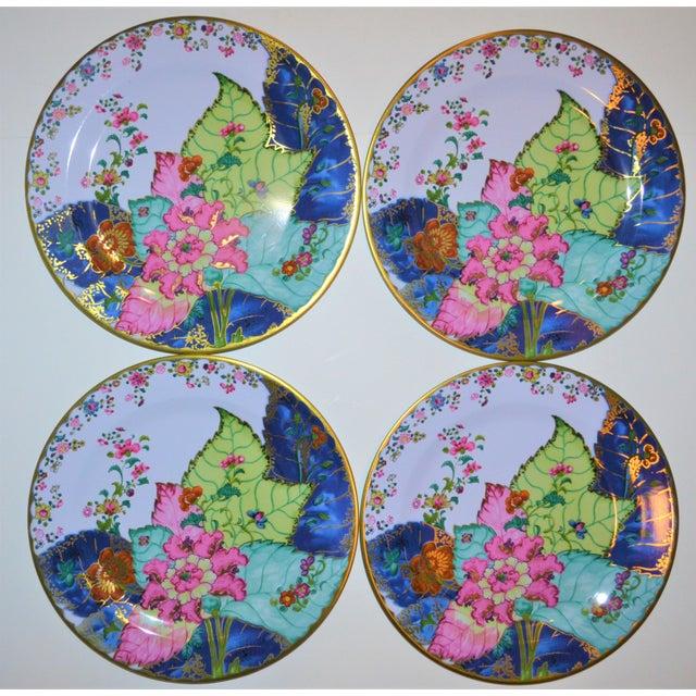 Enamaled Tin Tobacco Leaf Plates - Set of 4 For Sale - Image 9 of 13