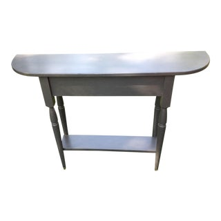 Late 20th Century Gray Painted Wood Side Half Table For Sale