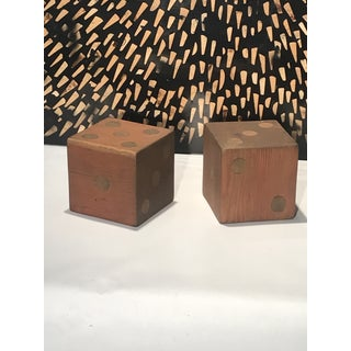 Large Wooden Handcrafted American Folk Art Dice - a Pair Preview