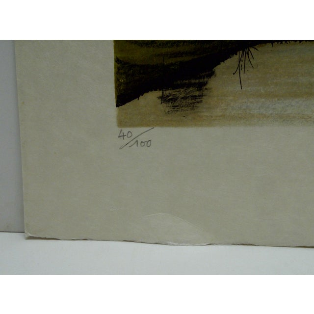 """Limited Edition """"Two Trees"""" Signed Print by Deperthes For Sale - Image 5 of 6"""