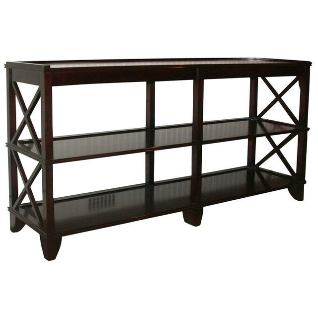 Regency Style Console With Shelving - Image 1 of 8