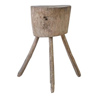 Late 19th Century Primitive French Tripod Chopping Block For Sale