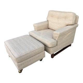Mid Century Edward Wormley for Dunbar Club Chair and Ottoman For Sale
