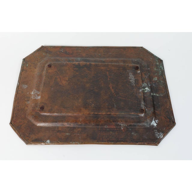 Middle Eastern Octagonal Persian Copper Tray Charger For Sale In Los Angeles - Image 6 of 7
