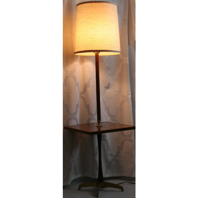 Mid-Century Modern Mid-Century Briard Style Side Table Floor Lamp For Sale - Image 3 of 10