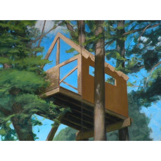 """Contemporary """"Tree House ~ Looking Up"""" Contemporary Large Painting by Stephen Remick For Sale - Image 3 of 10"""