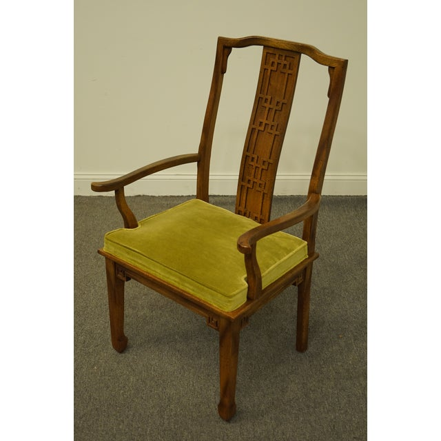 Century Furniture Century Furniture Asian Inspired Chinoiserie Dining Arm Chair For Sale - Image 4 of 10