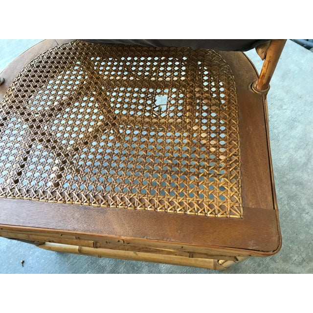 Thomasville Brighton Pavillion Vintage Rattan Chair - Set of Four For Sale - Image 12 of 13