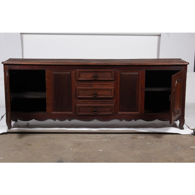 Oak Louis XV French Country Buffet For Sale - Image 7 of 11