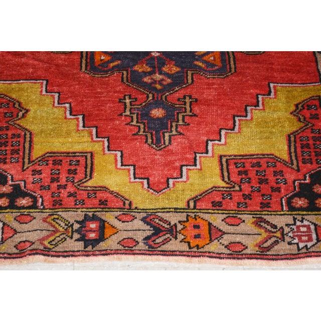 """Vintage Turkish Rug,3'1""""x4'2"""" For Sale - Image 4 of 6"""