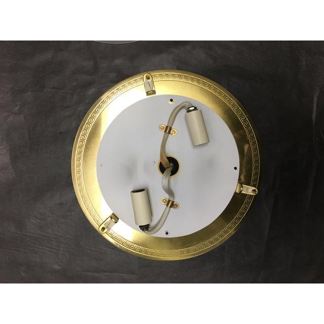 Vaughan Regency Style Brass Greek Key Flush Mount For Sale - Image 4 of 6