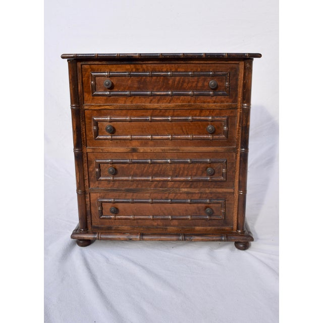 Chinese Chippendale Caned Faux Bamboo Hamper For Sale - Image 11 of 11
