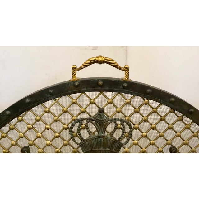 Maitland - Smith Maitland-Smith Traditional Large Iron Fire Screen For Sale - Image 4 of 6