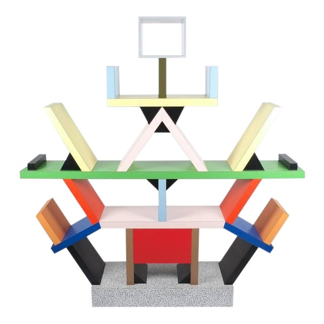 Carlton Bookcase Roomdivider by Ettore Sottsass for Memphis, 1981 For Sale