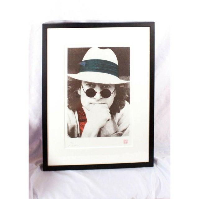 Photography Contemporary John Lennon Portrait Silk Serigraph Print by Nishi Saimaru For Sale - Image 7 of 7