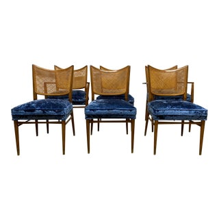 Set of 6 Erno Fabry Cane Back Dining Chairs For Sale
