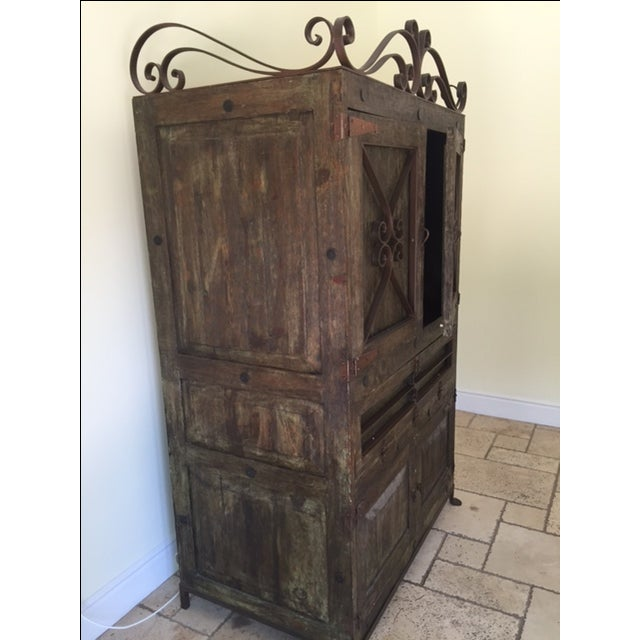 Vintage Spanish-Style Armoire - Image 3 of 4
