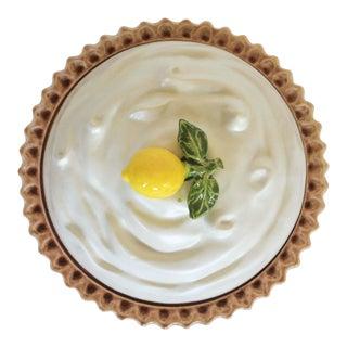 Lemon Meringue Lidded Pie Dish For Sale