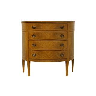 20th Century Hepplewhite Williams-Kimp Furniture Half Moon Demilune Accent Chest For Sale