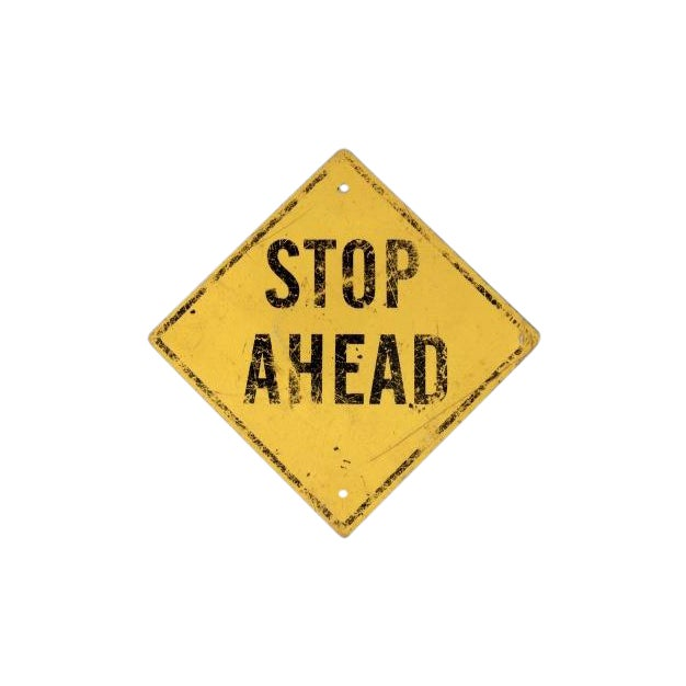 Vintage Stop Ahead Yellow Street Sign For Sale