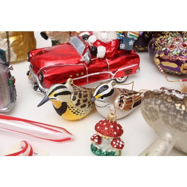 Hand Blown Glass Christmas Ornaments - Set of 23 - Image 8 of 11