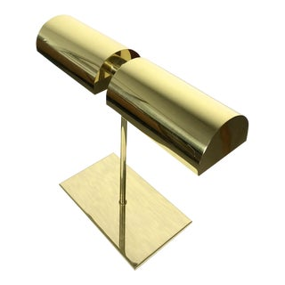 Vintage Brass Dual Shade Desk Lamp By George Kovacs 1970's
