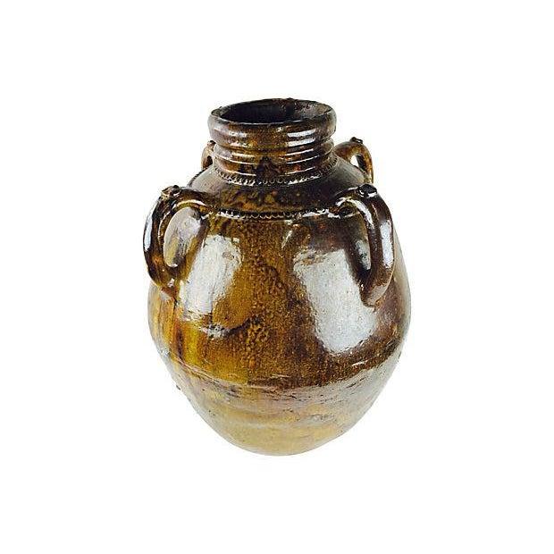 Large vintage Italian Terracotta hand-made handled outdoor vessel. No maker's marks.