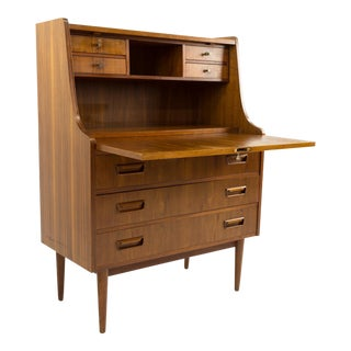 Mid-Century Teak Drop Down Desk