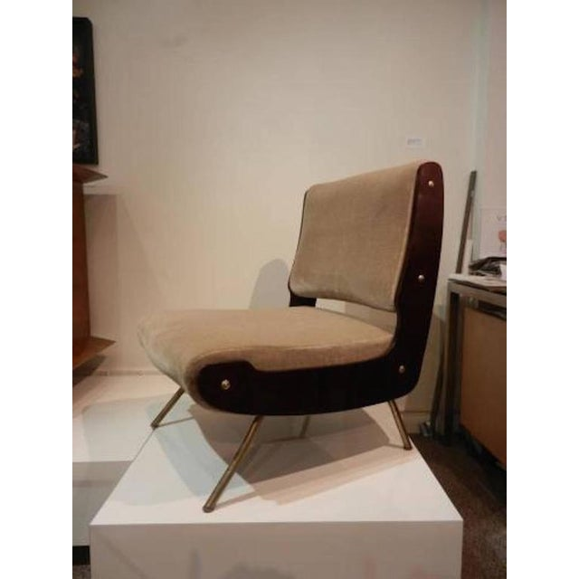 Gianfranco Frattini Pair of Slipper Chairs For Sale - Image 10 of 10