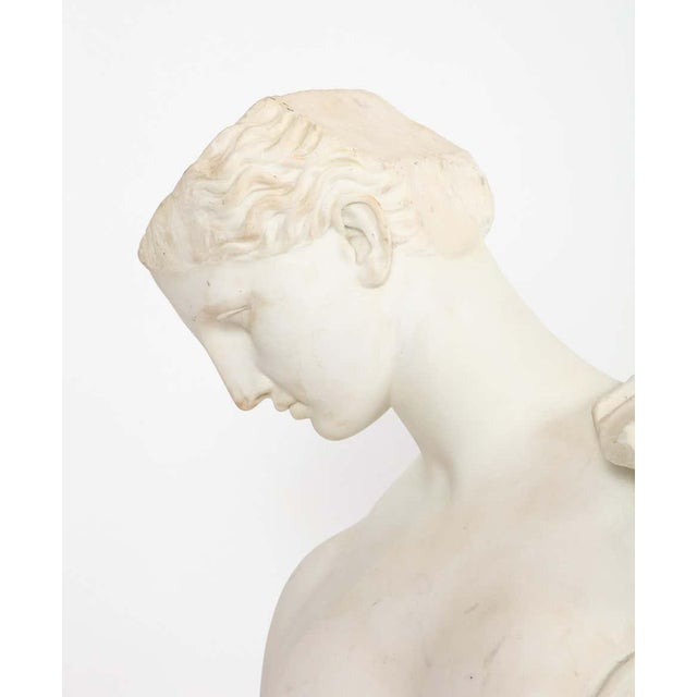 Antique Italian Neoclassical Marble Bust of Psyche, by Giuseppe Carnevale For Sale - Image 11 of 13