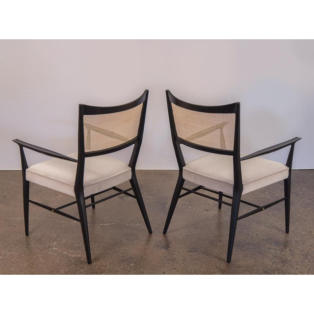 Paul McCobb Paul McCobb Ebonized Occasional Chairs - a pair For Sale - Image 4 of 10
