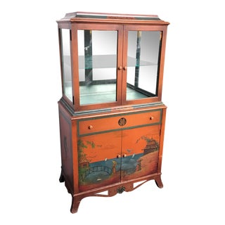 Vintage Chinoiserie Display Case For Sale