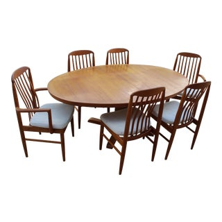 Mid-Century Modern Teak Dining Set For Sale