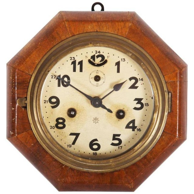 Art Deco Wall Clock by Junghans For Sale - Image 6 of 6