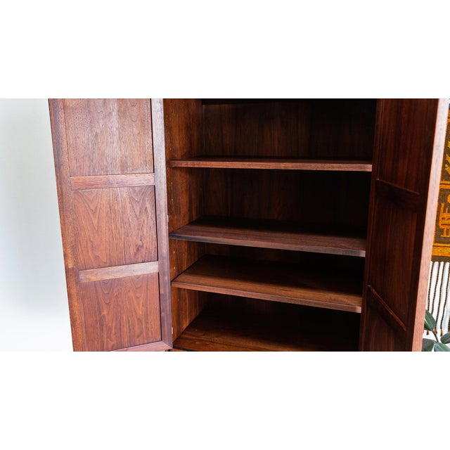 Wood 1960s Mid Century Modern Jack Cartwright for Founders Walnut Armoire Dressers - a Pair For Sale - Image 7 of 10