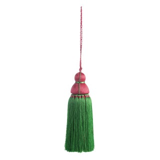 Green & Pink Tassel, Large For Sale