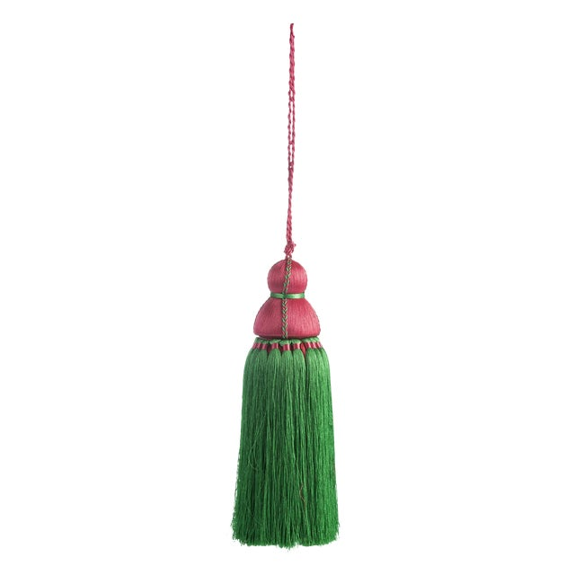 Green & Pink Tassel, Large For Sale