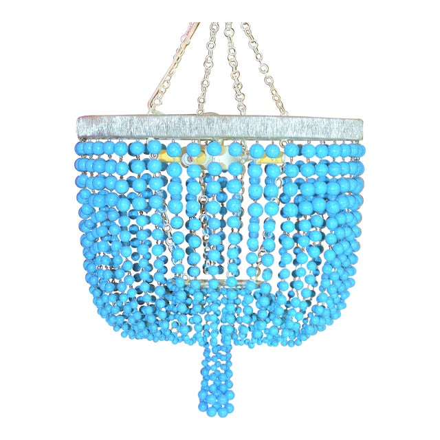 Arteriors Home Turquoise Beaded Four Light Chandelier - Image 2 of 11