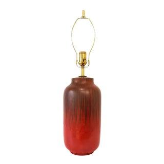 Mid-Century Alvino Bagni Red Italian Pottery Desk Lamp For Sale